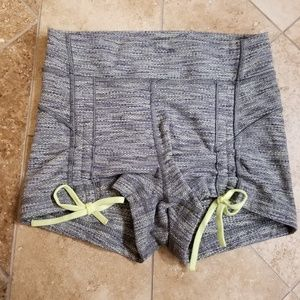Lululemon Gray shorts with lime green details